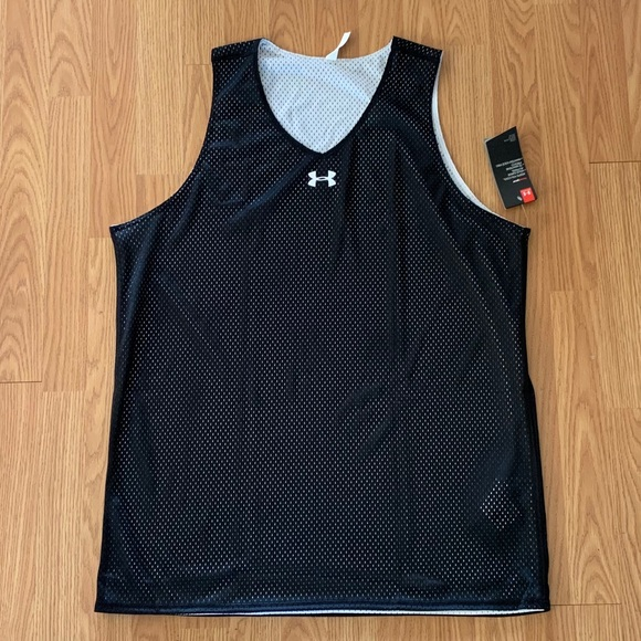 Under Armour Men/'s Double Double Reversible Basketball Jersey 1241903-001 Black